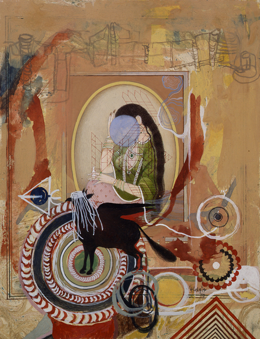 Shahzia Sikander, Ready to Leave, 1997. [Whitney Museum of American Art, New York]