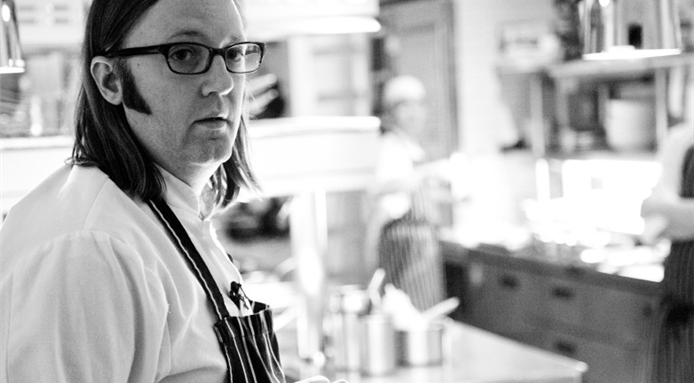 Chef and gastronomer Wylie Dufresne.